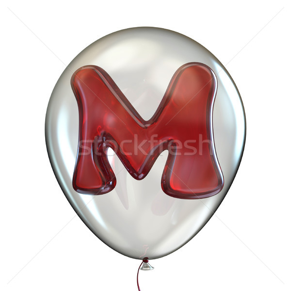 Letter M transparent balloon 3D Stock photo © djmilic