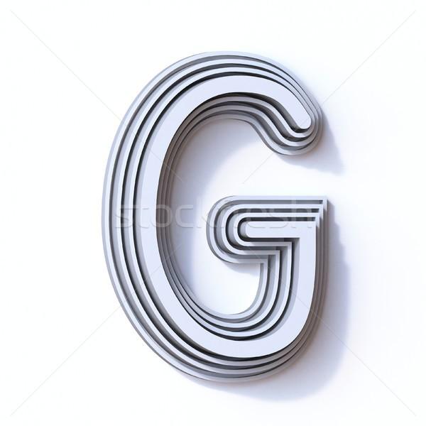 Three steps font letter G 3D Stock photo © djmilic