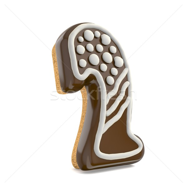 Number TWO 2 chocolate Christmas gingerbread font decorated with Stock photo © djmilic
