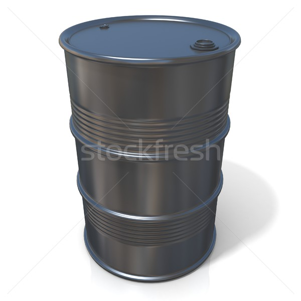 3D illustration of black oil barrel Stock photo © djmilic