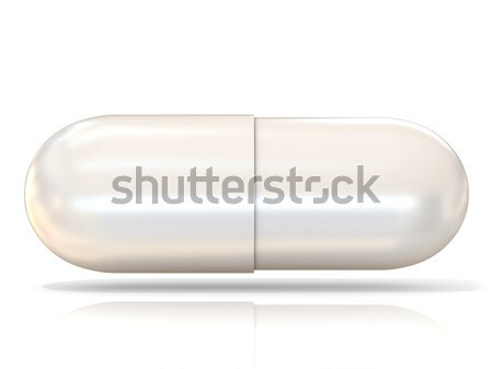 White 3D pill isolated Stock photo © djmilic