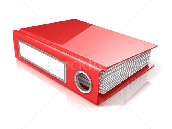 Red office folder. 3D Stock photo © djmilic