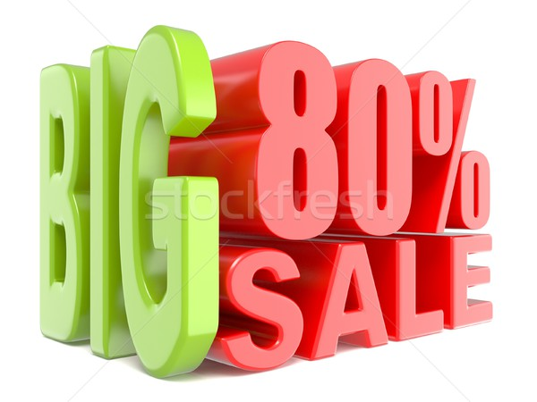 Big sale and percent 80% 3D words sign Stock photo © djmilic
