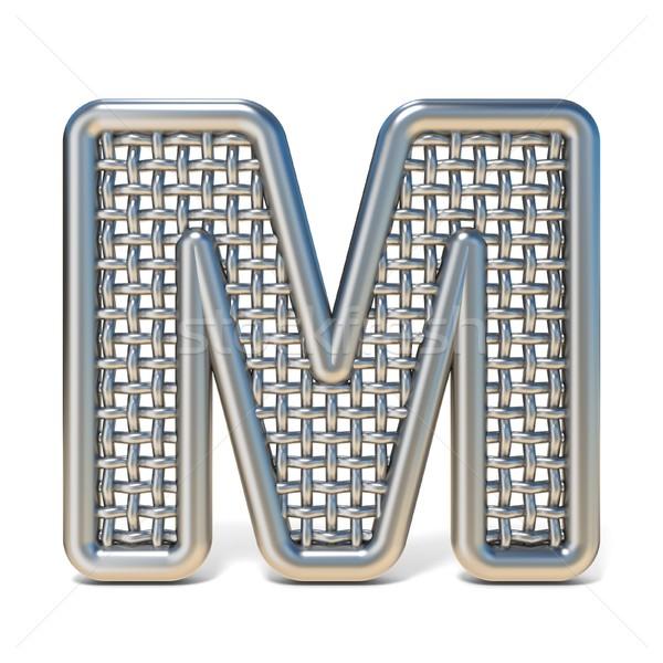 Metal tel mektup m 3D Stok fotoğraf © djmilic