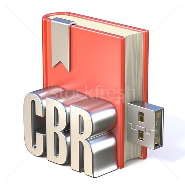 Ebook icono metal rojo libro usb Foto stock © djmilic
