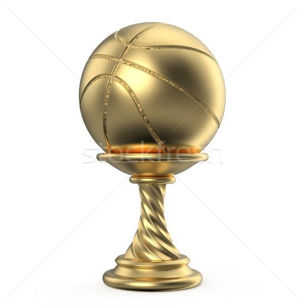 Arany trófea csésze kosárlabda 3D 3d render Stock fotó © djmilic
