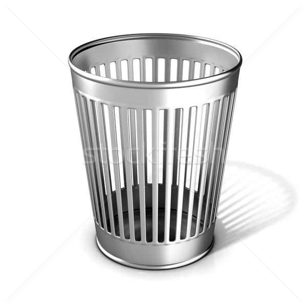 Empty metal trash bin Stock photo © djmilic