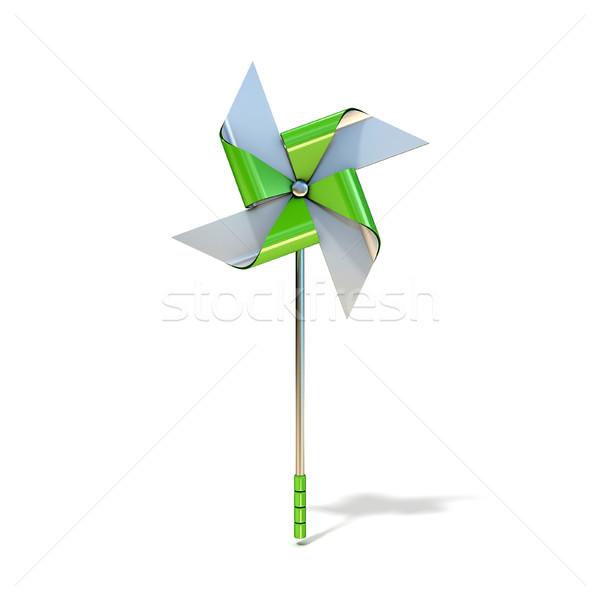 Pinwheel toy, four sided. 3D Stock photo © djmilic