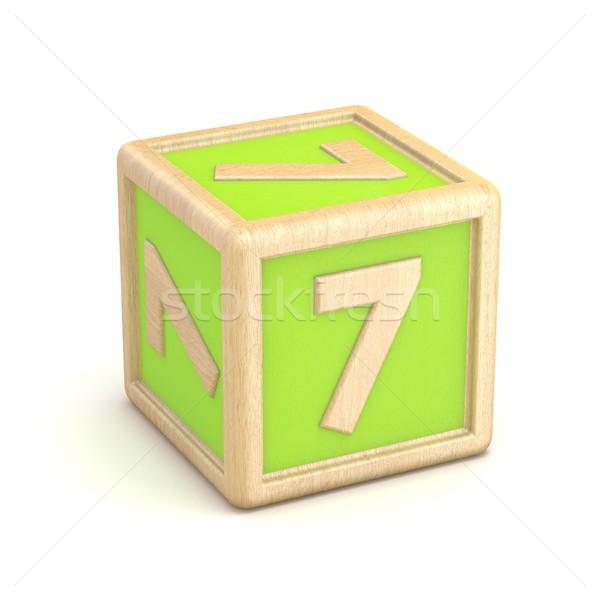 Numero sette legno alfabeto blocchi carattere Foto d'archivio © djmilic