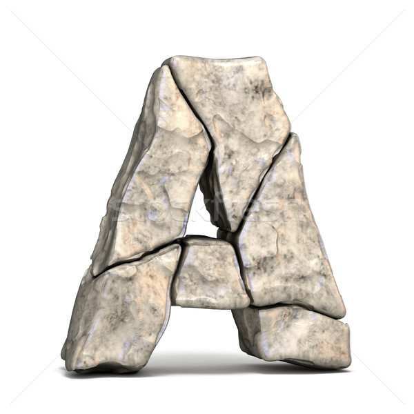 Stone font letter A 3D Stock photo © djmilic