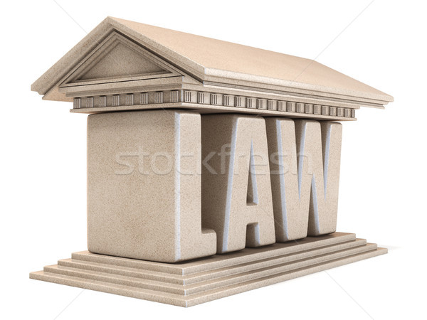 Word LAW temple 3D Stock photo © djmilic