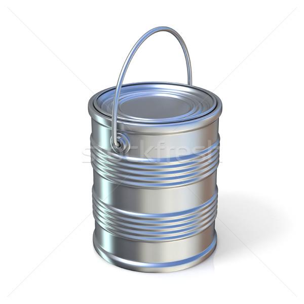 Metaal tin kan geïsoleerd witte home Stockfoto © djmilic