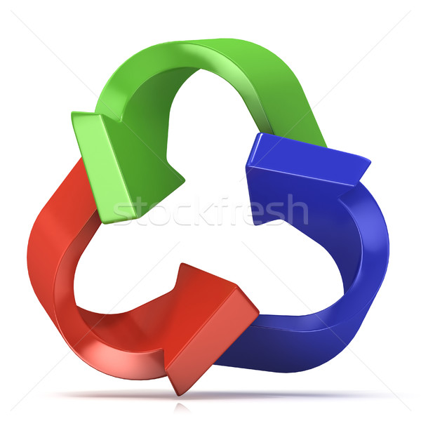 Colorful recycle sign, three arrows Stock photo © djmilic