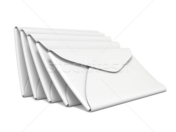 Foto stock: Branco · 3D · ilustração · isolado