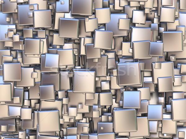 Abstract argento piastrelle 3D rendering 3d illustrazione Foto d'archivio © djmilic