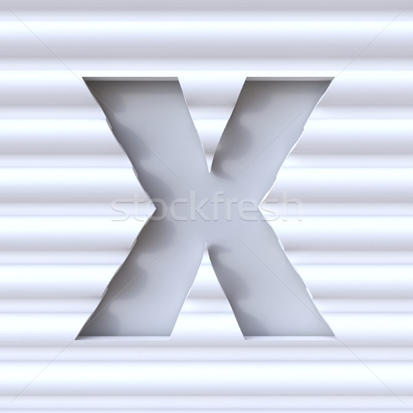 Cut out font in wave surface LETTER X 3D Stock photo © djmilic