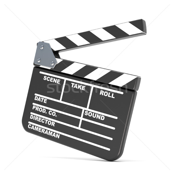 Movie clapperboard. 3D Stock photo © djmilic