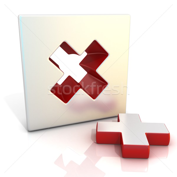 Multiply sign. 3D Stock photo © djmilic