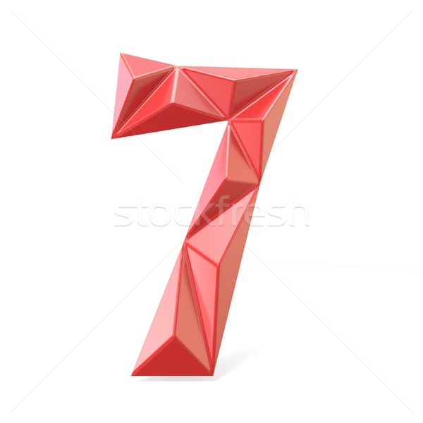 Vermelho moderno fonte dígito sete 3D Foto stock © djmilic