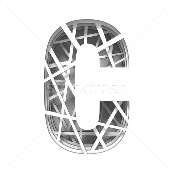 Papír kivágás betűtípus c betű 3D 3d render illusztráció Stock fotó © djmilic