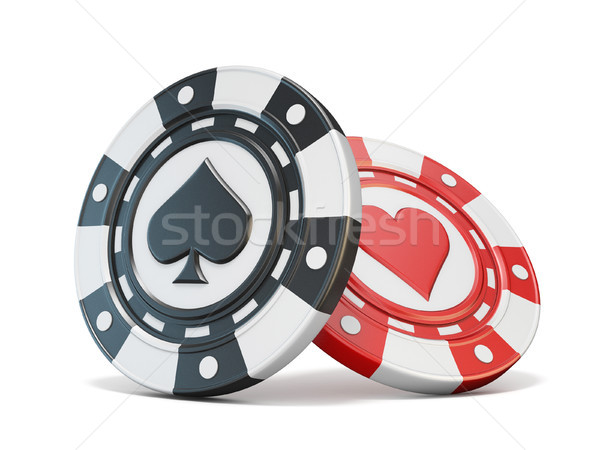 Gambling chips spade and heart 3D Stock photo © djmilic