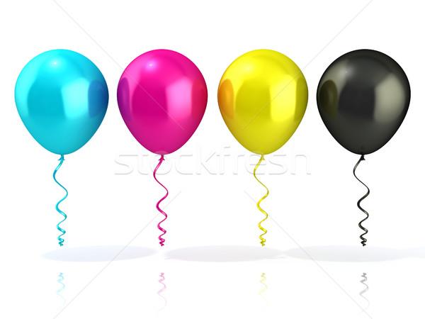 CMYK balloons Stock photo © djmilic