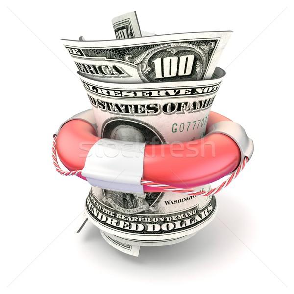 Rood besparing geld rollen dollar 3D Stockfoto © djmilic
