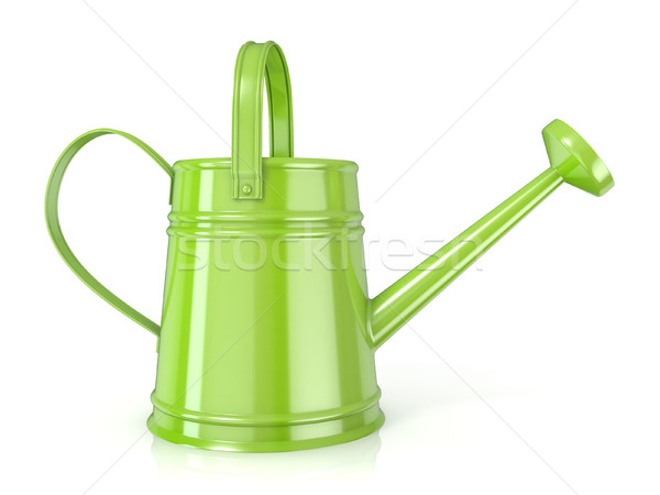 Green watering can 3D Side view Stock photo © djmilic