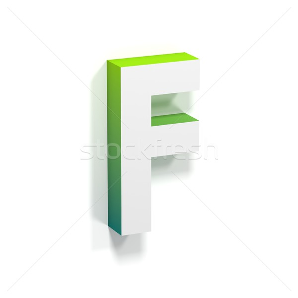 Green gradient and soft shadow letter F Stock photo © djmilic