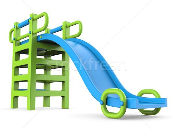 Crianças deslizar 3D 3d render ilustração isolado Foto stock © djmilic