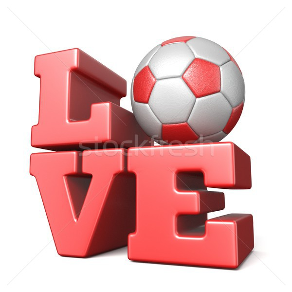 Word LOVE with football soccer ball 3D Stock photo © djmilic