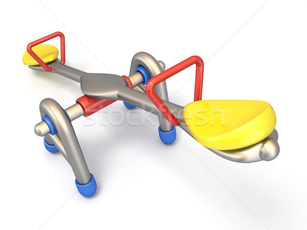 Children seesaw side view 3D Stock photo © djmilic