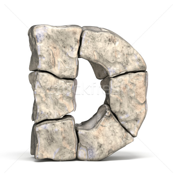 Stone font letter D 3D Stock photo © djmilic