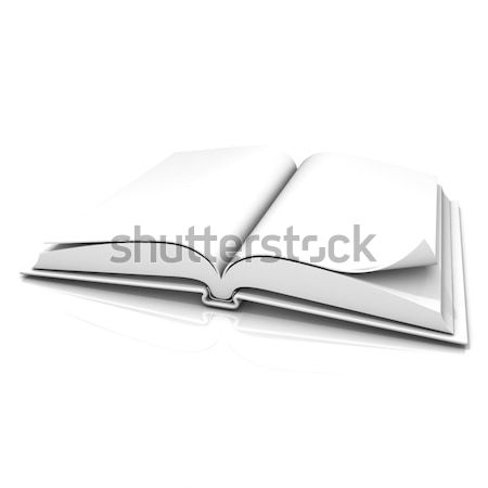 Blank open white book Stock photo © djmilic