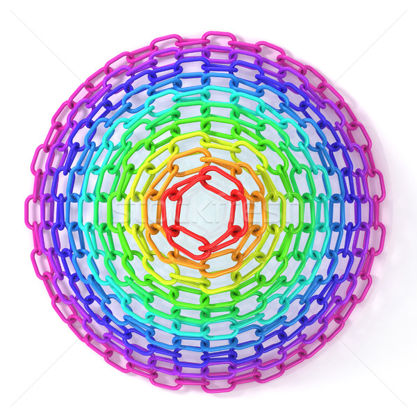 Colorful concentric circles made of chain Stock photo © djmilic
