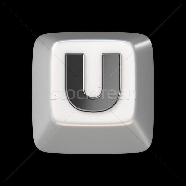 Computer keyboard key FONT. Letter U 3D Stock photo © djmilic