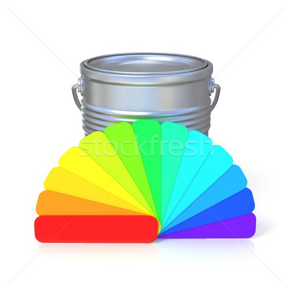 Kleuren begeleiden reflectie kan 3D 3d render Stockfoto © djmilic