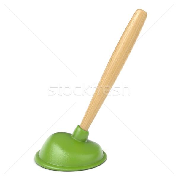 Green kitchen plunger 3D Stock photo © djmilic