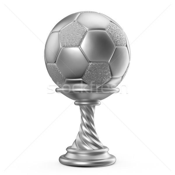 Plata trofeo taza fútbol fútbol 3D Foto stock © djmilic