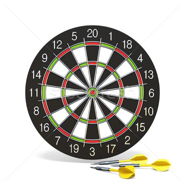 Stockfoto: Geel · dart · pijlen · 3D