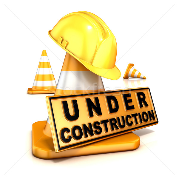Under construction sign. 3D Stock photo © djmilic