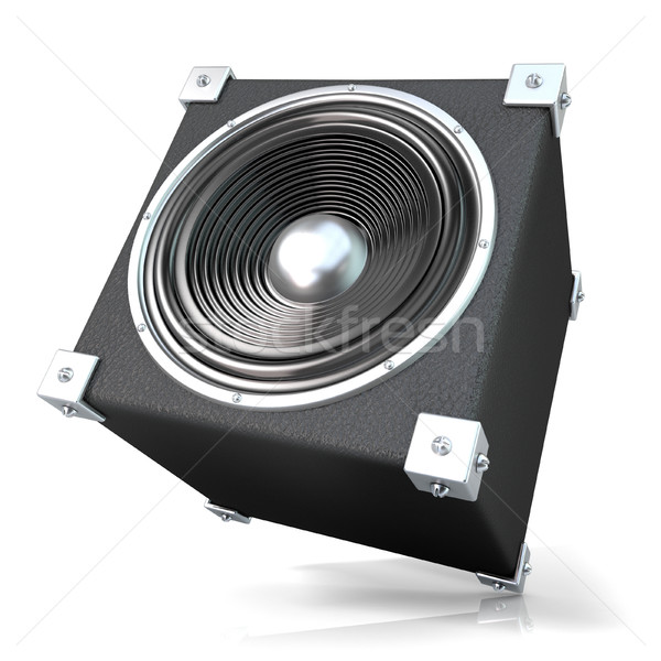 Black audio speaker. 3D Stock photo © djmilic