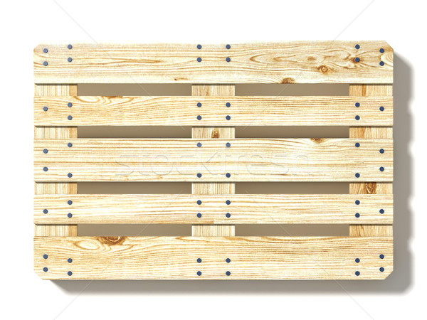 Euro pallet. Top view. 3D Stock photo © djmilic