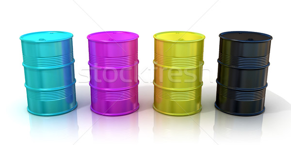 CMYK barrels Stock photo © djmilic