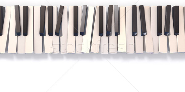 Stockfoto: Abstract · piano · toetsenbord · 3D · 3d · render · illustratie