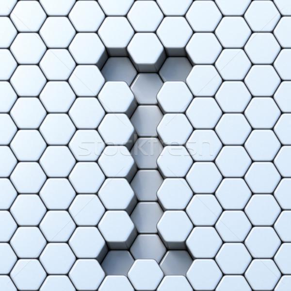 Hexagonal grid letter I 3D Stock photo © djmilic