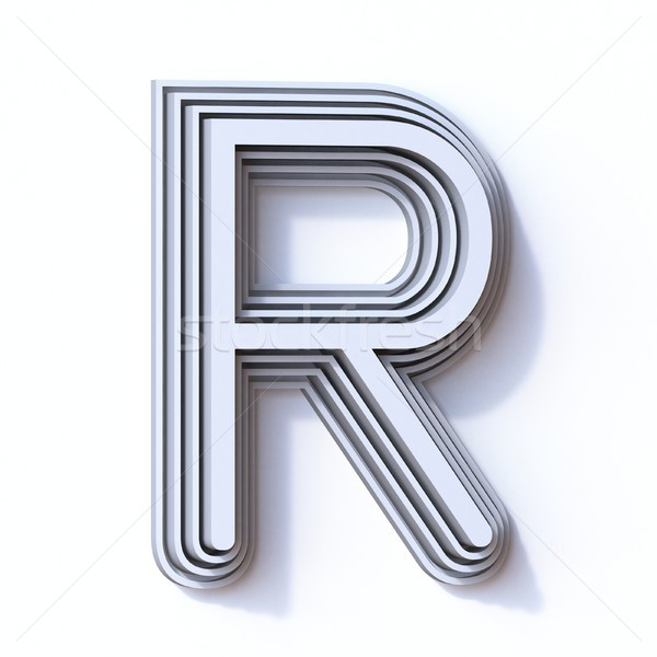 Three steps font letter R 3D Stock photo © djmilic