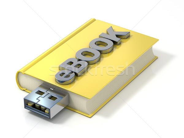 Ebook usb plugue 3D 3d render ilustração Foto stock © djmilic
