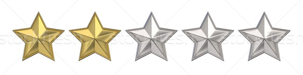 Foto stock: Votação · dois · dourado · estrelas · 3D · 3d · render