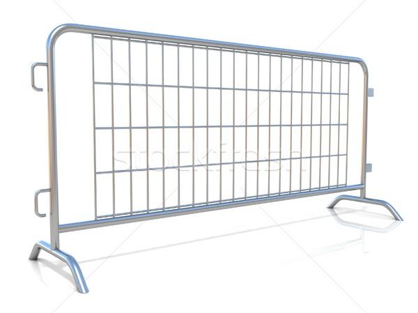 Aço isolado branco vista lateral rua segurança Foto stock © djmilic